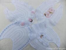 CROCHET PATTERN (PRINTED PAPER) TO MAKE **ANGEL BIBS** FOR NEWBORN / REBORN BABY