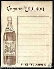 """PUBLICITE -  BOISSON - ALCOOL """" COGNAC TOURNOY """""""