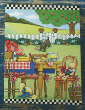 Mary Engelbreit lot of 12 note cards Picnic tea party farm picket fence dog 2013