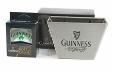 Guinness Shamrock Clover Wall Mount Bottle Opener & Steel Cap Catcher ~ NEW