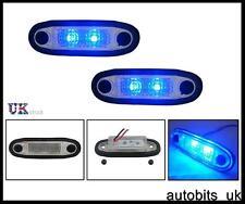 2X 24V BLUE LED FLUSH MARKER FOR KELSA BARS SCANIA VOLVO DAF MAN VOLVO MERCEDES