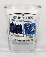 NEW YORK STATE SCENERY BLUE NEW SHOT GLASS SHOTGLASS