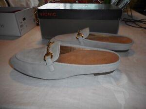 NIB Vionic Snug Adeline Light Grey Moccasin Size 9.5