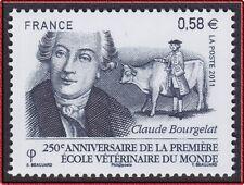 2011 FRANCE N°4553** CLAUDE BOURGELAT 1° École vétérinaire à Lyon France 2011 NH
