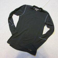 Climasense Terramar Men Small Stretch Long Sleeve Shirt Black Running Cross Fit