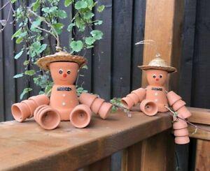 Bill and Ben stone garden ornament cheeky boy character children flower pot men