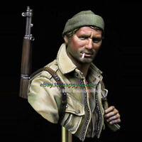NEW 1/10 Scale WWII Soldier Bust Model Unpainted Resin Figure Garage Kits Statue