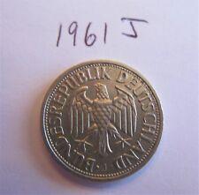 German Federal Republic One Deutsche Mark Coin 1961J KM#110 1 Mark RARE DATE