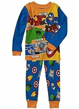 Marvel Avengers Boy's Size 2T Cotton Pajama Set, Hulk, Thor, Ironman
