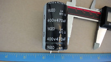 Yageo 470Uf 400V Snap Mount Scratched Slightly Capacitor New Lot Quantity-5