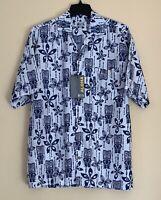 UZZI AMPHIBIOUS GEAR Men Hawaiian Aloha Front Button Shirt XL NEW Dri Fit UPF