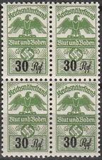 Stamp Germany Revenue Block WW2 3rd Reich War War Era Tax Duty 030 MNH