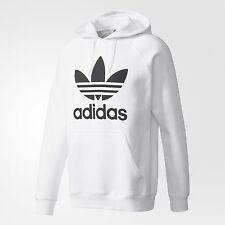 NEW MEN'S ADIDAS ORIGINALS TREFOIL PULLOVER HOODIE ~SIZE 2XL  #AY6474 WHITE