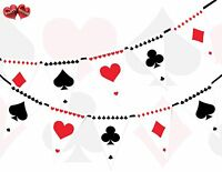 Card Suit Print Poker Themed Bunting Banner 15 flag Alice in Wonderland Inspired