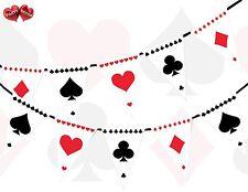 Traje de tarjeta impresión Poker temática Empavesado Bandera 15 bandera Alicia en el país de las Maravillas Inspirado