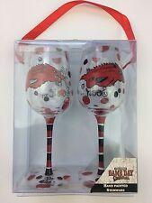 University of Arkansas Razorback Hand Painted Wine Glass Set
