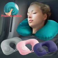 New Portable Inflatable U-Shape Neck Pillow Car Head Rest Sleep Cushion Travel