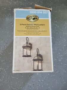 1-Light Weathered Bronze Wall Lantern Sconce Outdoor Garden Patio 1000014557