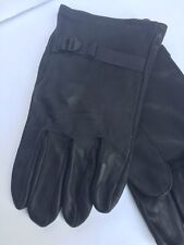 NORTHERN GLOVE CO. GLOVES Leather Black Motorcycle Riding Mens Large 4 No Label