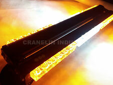 DOUBLE SIDE 108W LED RECOVERY LIGHT BARS TOW TRUCK WARNING STROBE YELLOW&WHITE