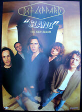 DEF LEPPARD Slang 2-Sided Record Store Promo Poster Mint- 1996 ORIGINAL!
