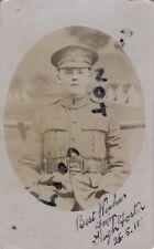 WW1 soldier Pte Hugh Foster 6th London Regiment Cast Iron Sixth