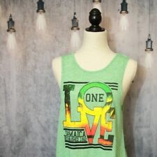 Green Sun Kissed Island One Love Graphic tank top