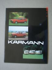 KARMANN  model range - Modelle  brochure / Prospekt   1981.