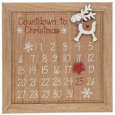 Nuevo De Madera Reno De Navidad Adviento Calendario Cuenta Regresiva Navidad 6979