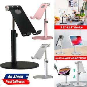 Universal Aluminum Desktop Desk Stand For iPad Tablet iPhone Samsung LG
