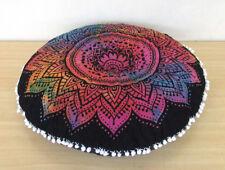"28"" Round Pillow Cover Multi Tie Dye Mandala Floor Cushion Covers Throw"