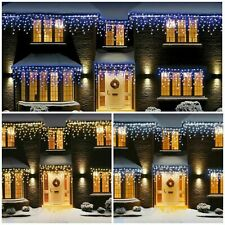 CHRISTMAS 360/480/720/960/1200 LED ICICLE SNOWING XMAS CHASER LIGHTS OUTDOOR