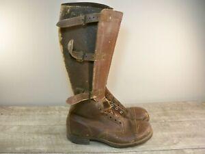 Original WW2 1940s USA Army Military International Calvary Riding Boots Size 7.5