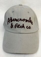 1 Abercrombie & Fitch Womens Baseball Cap Hat GREY WITH BURGUNDY LOGO Cursive