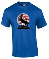 Wolf Moon Flag Patriotic US Flag Wolves T-Shirt