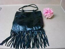 Guess Fringe Black Stylish Purse Very Chic Hippie Hobo Style