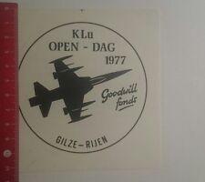 Aufkleber/Sticker: KLu Open Dag 1977 Gilze Rijen (02011799)