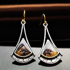 Hook Women Jewelry Dangle Drop Earring Elegant 925 Silver Turquoise Earrings Ear