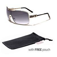 Sport Sunglasses Retro Fashion Men Black Shades Vintage Style Black Pouch N