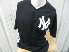 VINTAGE MAJESTIC NEW YORK YANKEES LARGE SPRING TRAINING SEWN BLUE JERSEY PREOWN