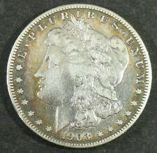 1903-S $1 Morgan Silver Dollar Gold Rainbow Rim Toning