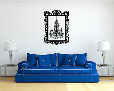 Vinyl Wall Decal Sticker Bedroom Chandelier Frame Beautiful Luster r1551