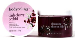 2 Count Bodycology 8 Oz Dark Cherry Orchid Moisture Shea Cleansing Shower Jelly