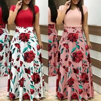 Fashion Women's Floral Long Maxi Dress Split Cocktail Party Beach Sundress