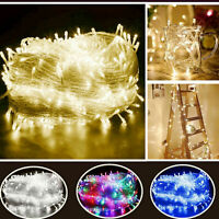 Indoor Outdoor Fairy String Lights 100-1000LED Christmas Tree Wedding Party Lamp