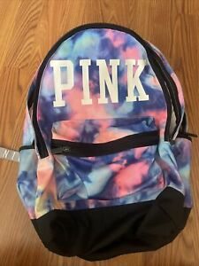 Victoria secret pink tie dye backpack Rare flawed