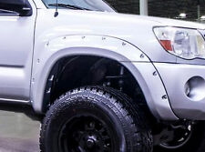 TACOMA 2005-2011 6FT LONG BED BOLT-ON POCKET FENDER FLARES PAINTABLE MATTE BLACK