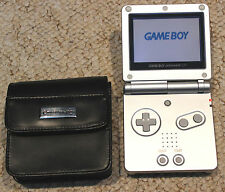 GAME BOY ADVANCE SP PLATINUM SILVER CONSOLE NINTENDO GBA SYSTEM TESTED WORKING
