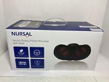 Nursal Shiatsu Neck Pillow Massager 3D Deep Kneading Massage Pillow with Heat