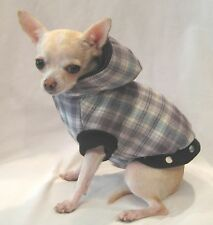 Dog coat/dog clothes/Snuggle Flannel Dog Coat/SIZE XS ONLY! FREE SHIP!